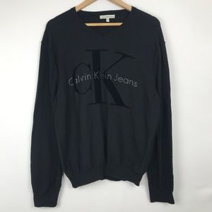 Calvin Klein Jeans  Black Logo Crewneck Sweater XL